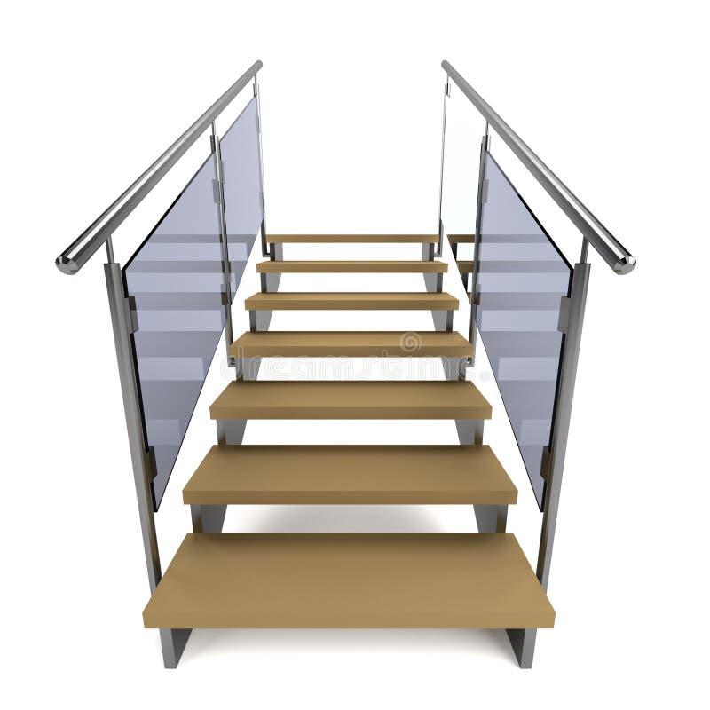 3d framför av trappa stock illustrationer