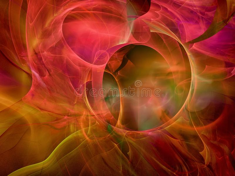 3D framför blå brandrökeffekt på den svarta bakgrunden arkivbilder