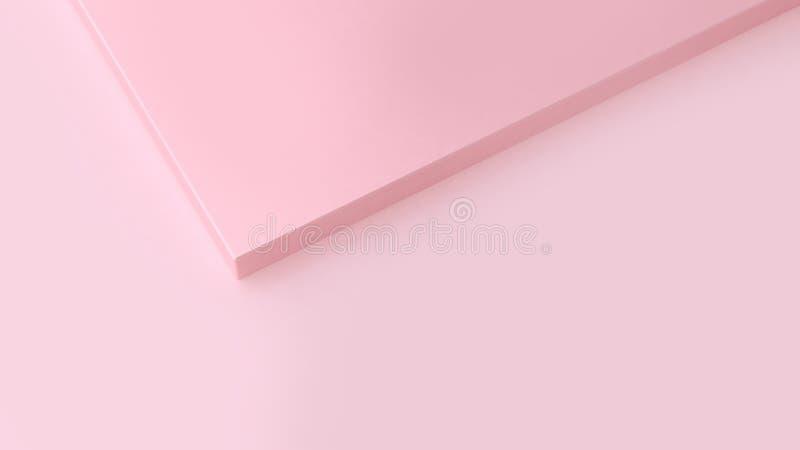 3d framför framlänges för att köra abstrakt minsta rosa bakgrund för form skevt vektor illustrationer