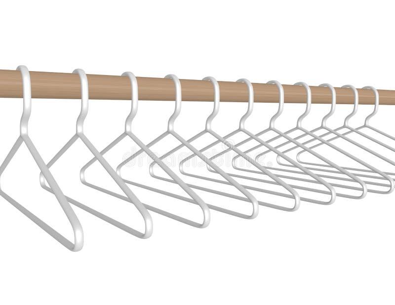 3d framför plast- hängare som hänger på en Stång vektor illustrationer