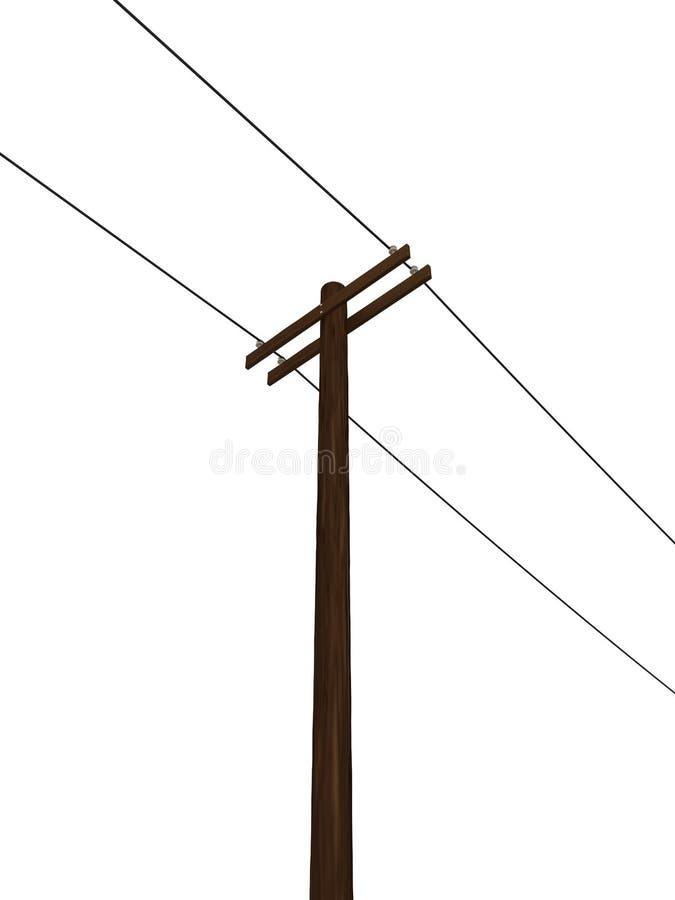 3D framförde makt Pole stock illustrationer