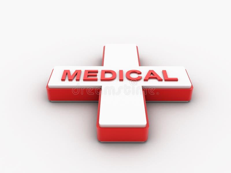 3d framförde medicinskt symbol för caduceus isolerat på en vit bakgrund stock illustrationer