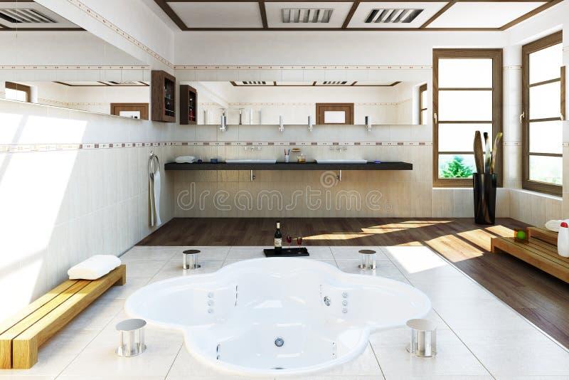 3D framfört badrum stock illustrationer