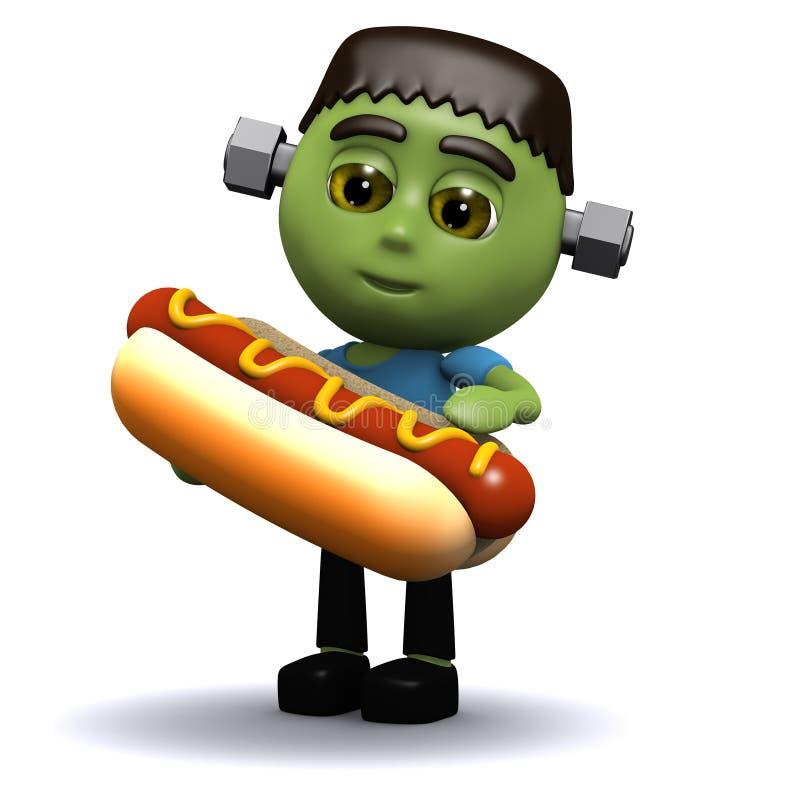 Download 3d Frankenstein ест горячую сосиску Иллюстрация штока - иллюстрации насчитывающей ужас, страшно: 40581372