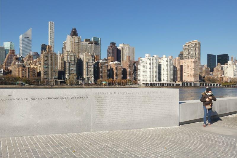 d Franklin Roosevelt 罗斯福四大自由公园 免版税库存照片