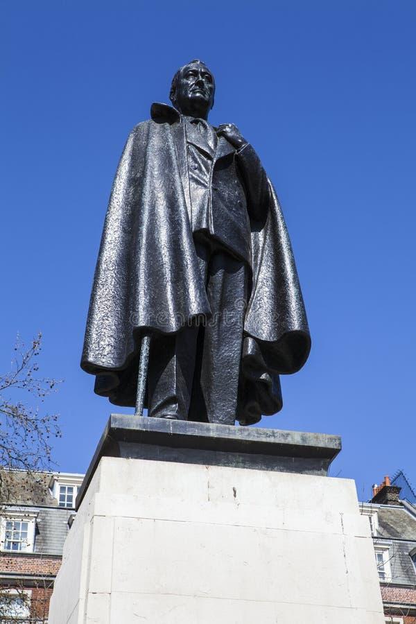 d Franklin Roosevelt Roosevelt statua w Londyn fotografia royalty free