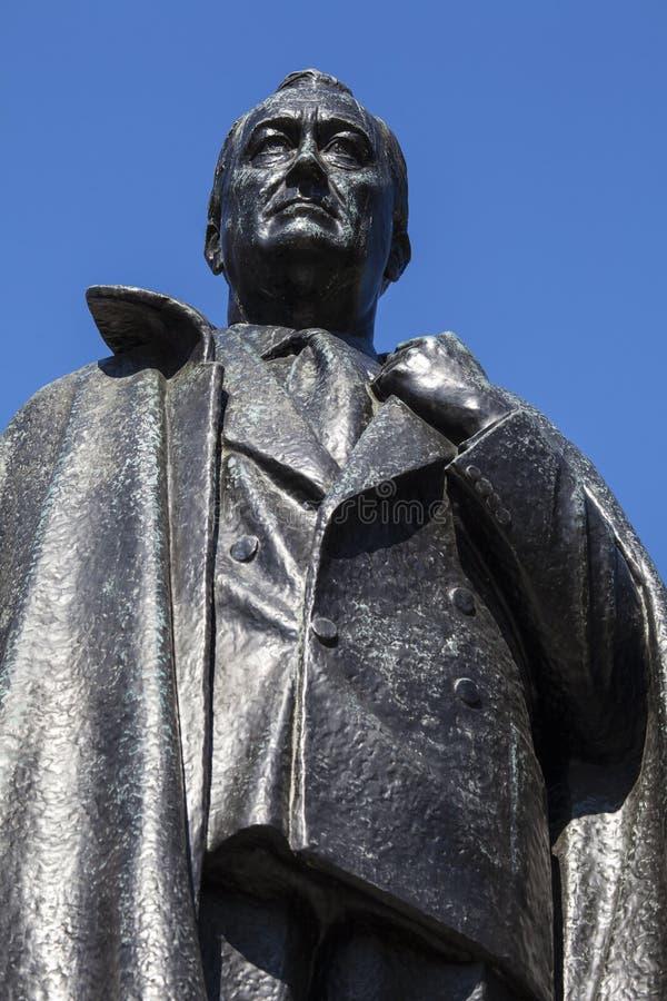 d Franklin Roosevelt Roosevelt statua w Londyn zdjęcia stock