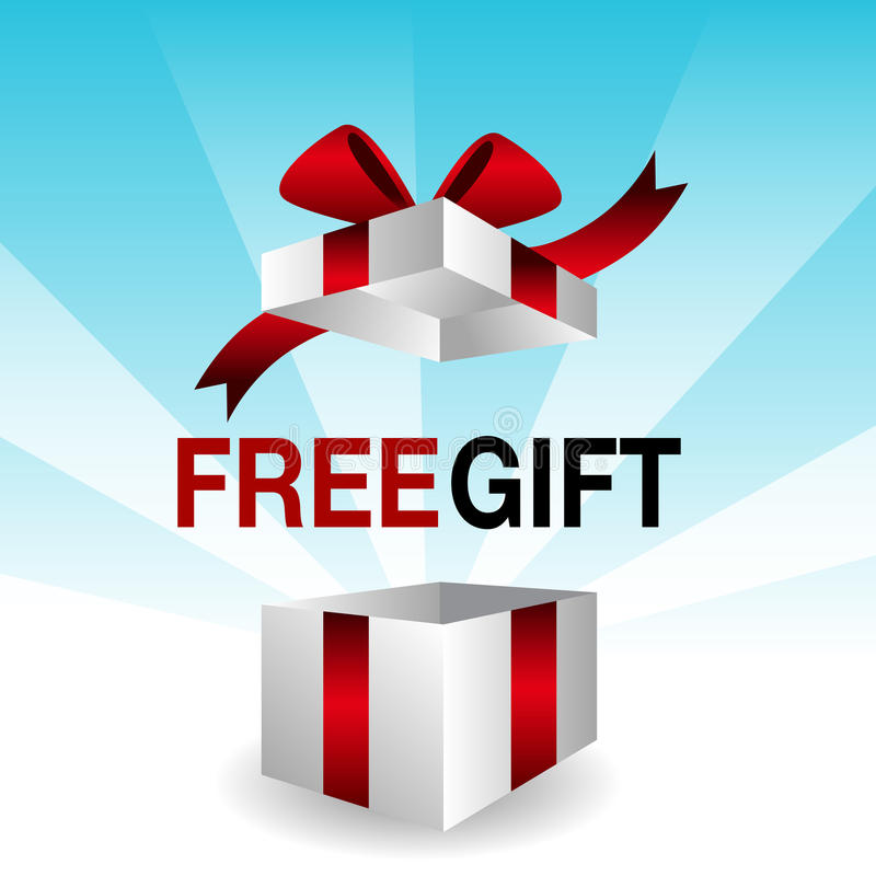 3d Free Gift vector illustration