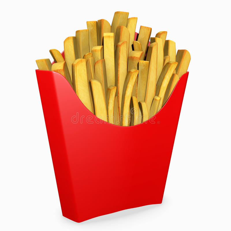 3d French Fries Royalty Free Stock Photo