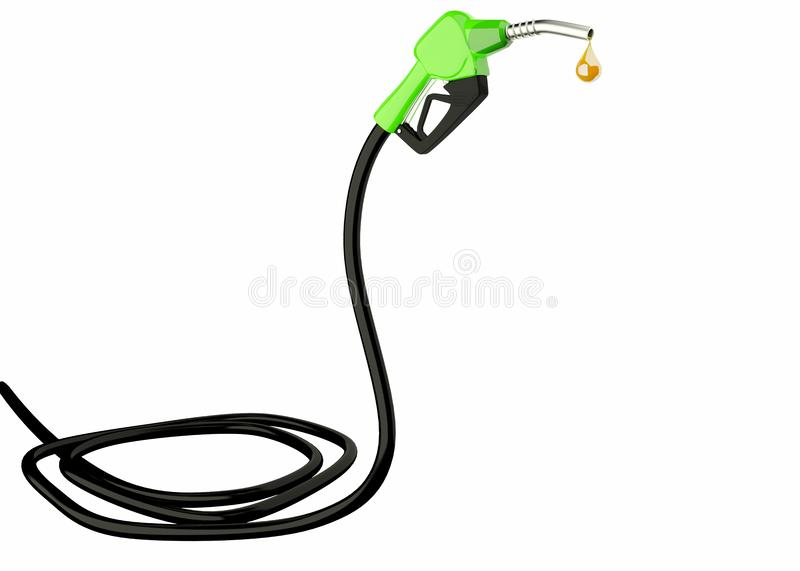 3d Fuel nozzle with hose stock images