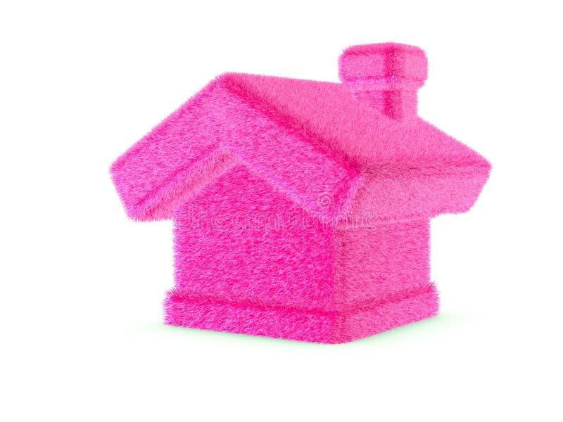 3d różowy owłosiony dom obraz royalty free