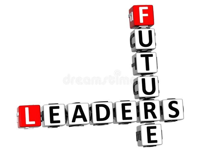 3D Future Leaders Crossword vector illustration