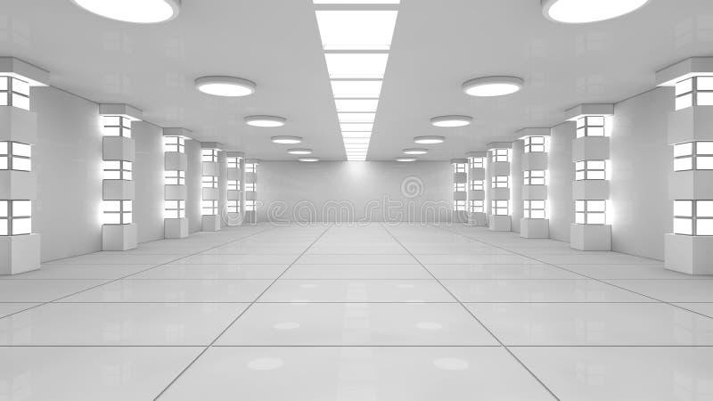 3d Futuristic corridor royalty free illustration