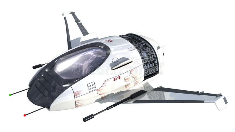 3D futuristic drone royalty free illustration