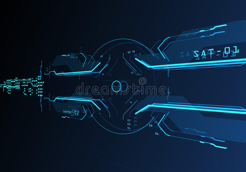 3d Futuristic user interface stock images