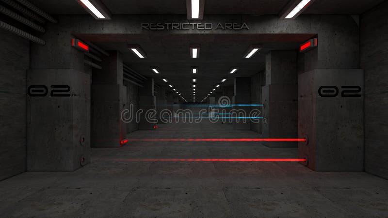 3d futuristische architectuur stock illustratie