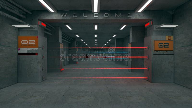 3d futuristische architectuur vector illustratie