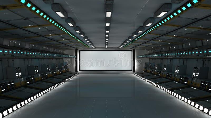 3d futuristische architectuur royalty-vrije illustratie