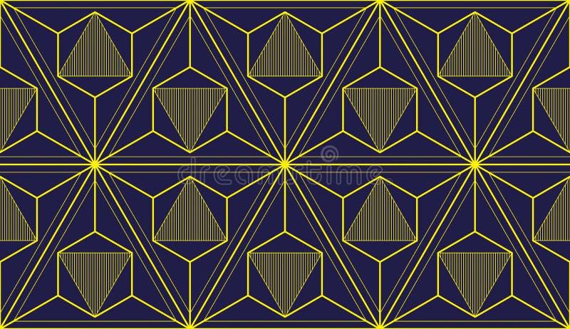 3d géométrique raye le modèle sans couture abstrait, fond de vecteur illustration stock