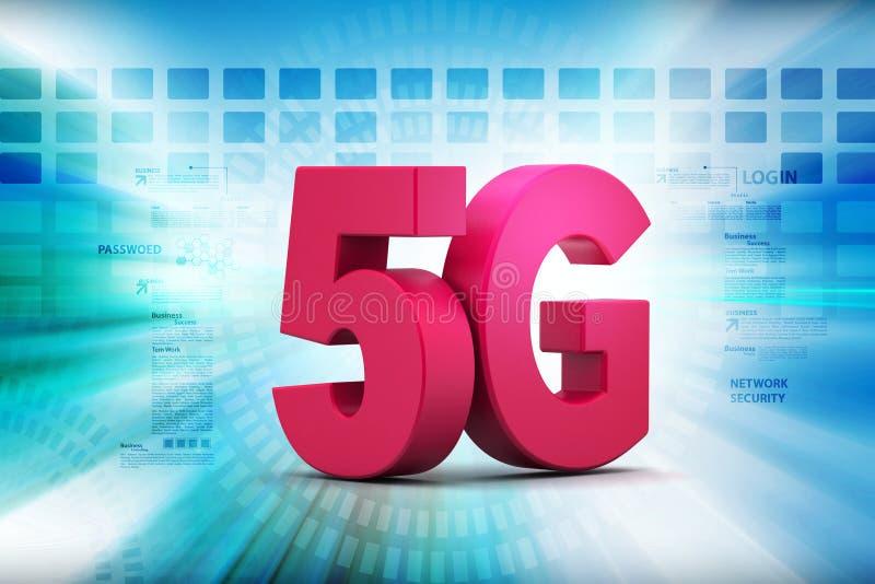 3d 5G royalty-vrije illustratie
