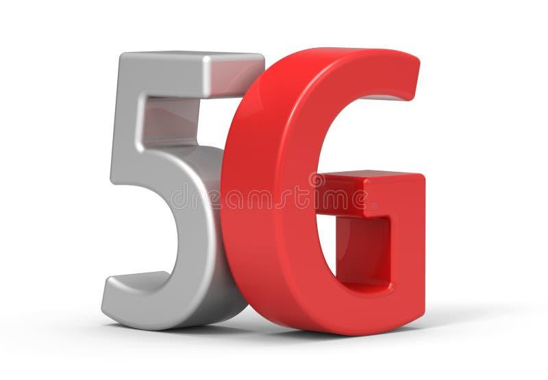 3d 5G ilustracja wektor