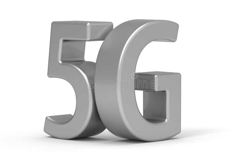3d 5G. '5G' is modelled and rendered royalty free illustration