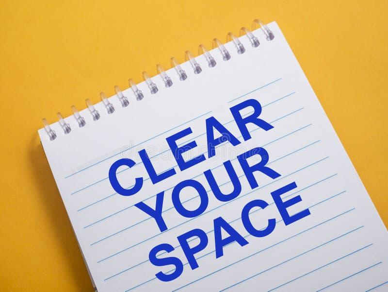 D?gagez votre espace, concept de motivation de citations de mots illustration stock