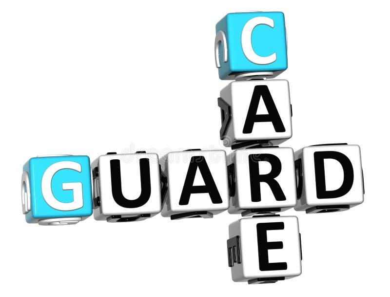 3D garde Care Crossword illustration stock