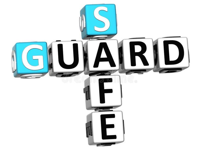 3D garde Safe Crossword illustration de vecteur