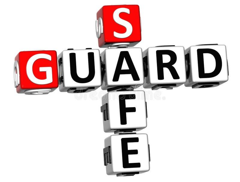 3D garde Safe Crossword illustration stock