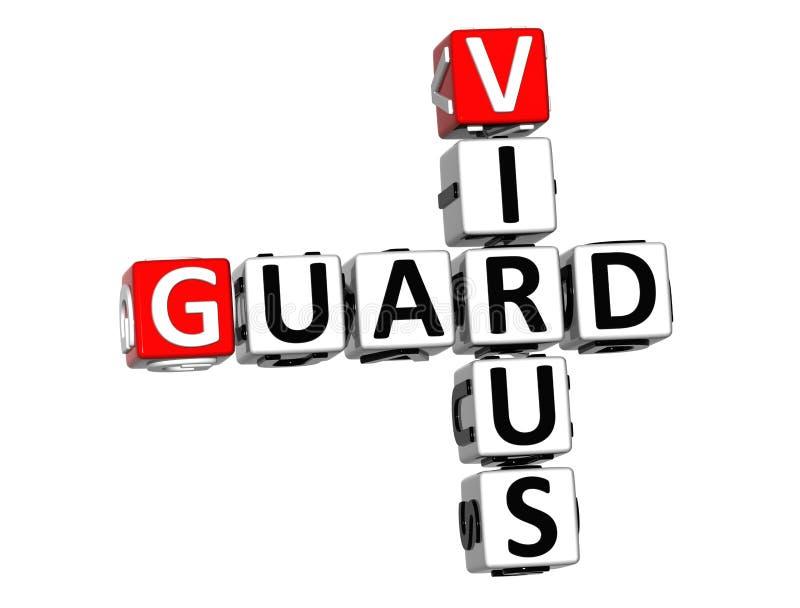 3D garde Virus Crossword illustration stock