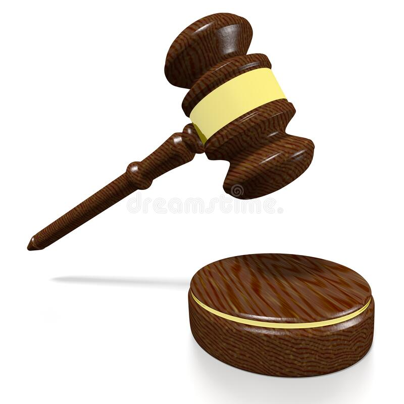 3D gavel - justice/ law concept royalty free stock image