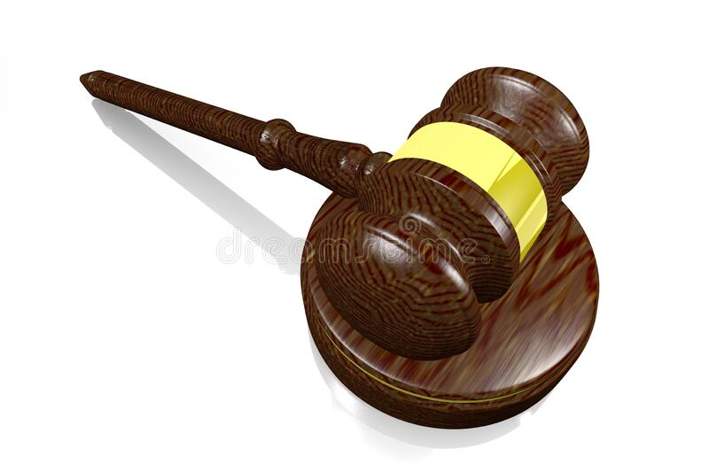 3D gavel - justice/ law concept royalty free stock photography