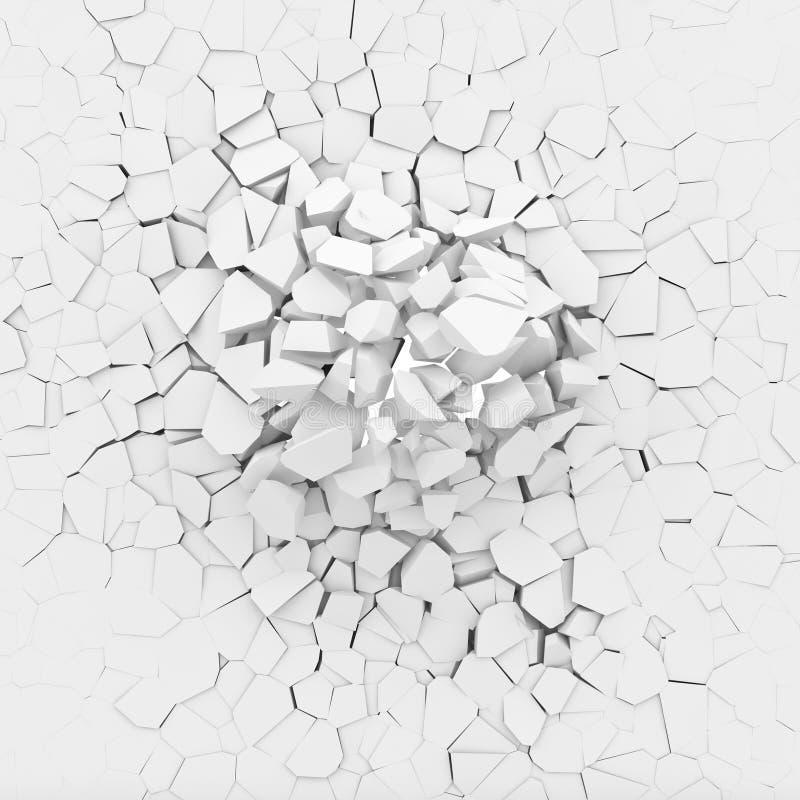 3d gebroken muur vector illustratie