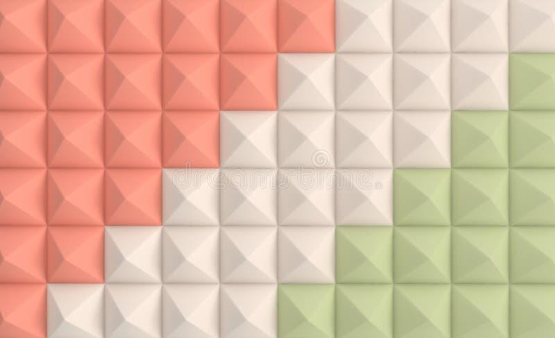 3d geef achtergrond in pastelkleuren terug Document piramide geometrische abstracte illustratie royalty-vrije illustratie