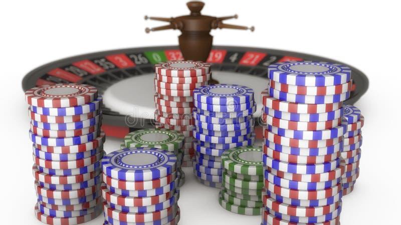 3D geef Amerikaanse Roulette terug royalty-vrije illustratie