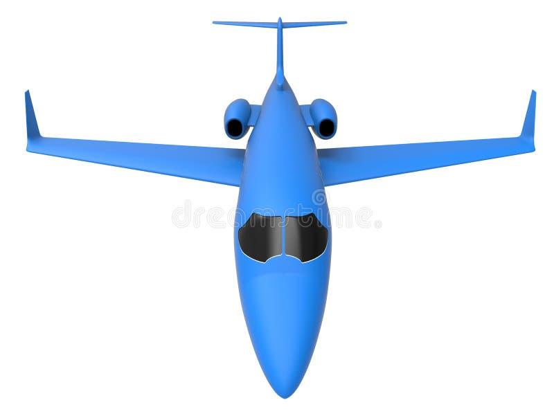 3D geef - blauw privé straal vooraanzicht terug royalty-vrije illustratie