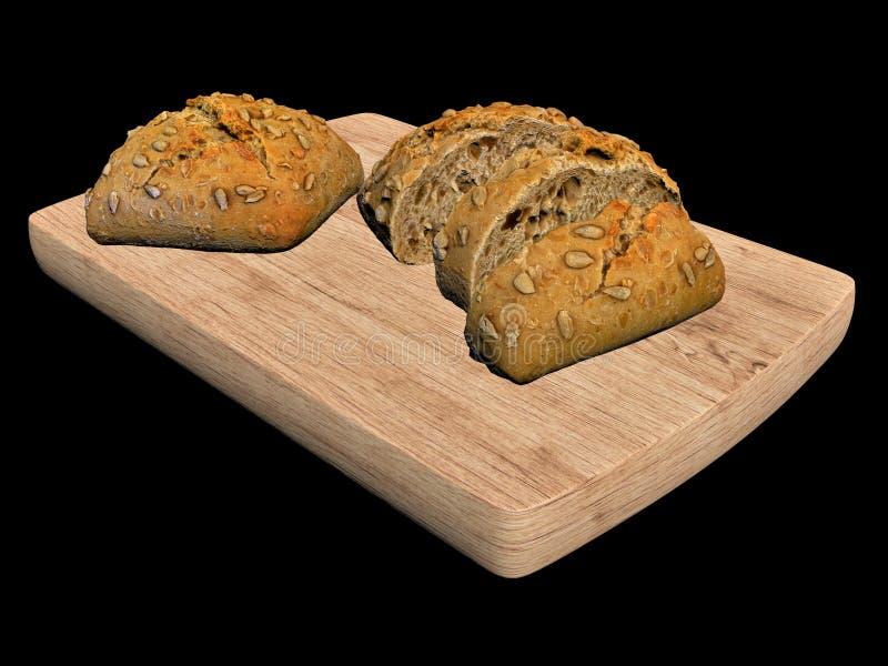 3d geef brood terug vector illustratie