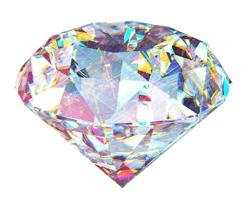 3d geef diamanten terug royalty-vrije illustratie
