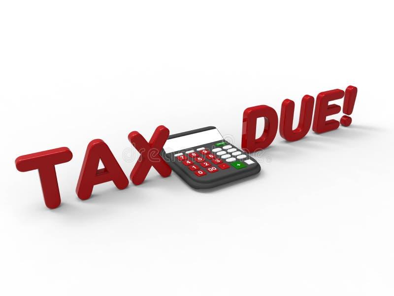 3D geef illustratie van het concept het berekenen van uw belastingen terug royalty-vrije illustratie