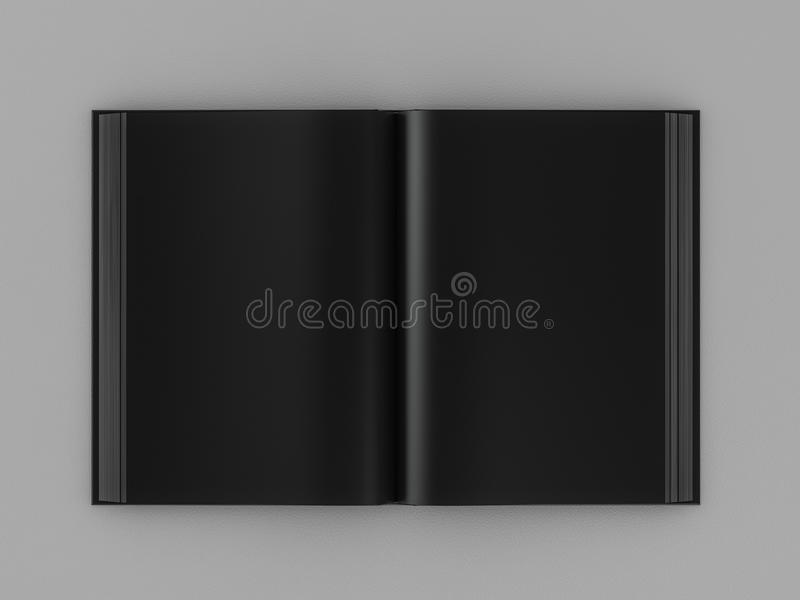 3d geef open zwart boek terug royalty-vrije illustratie