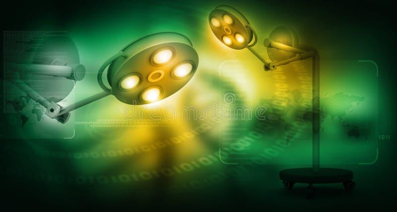 3d geef van Chirurgische lampen terug royalty-vrije illustratie