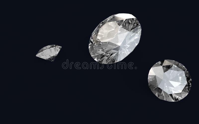 3D geef van diamanten terug stock illustratie