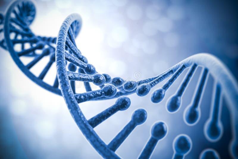 3d geef van DNA-structuur terug royalty-vrije illustratie