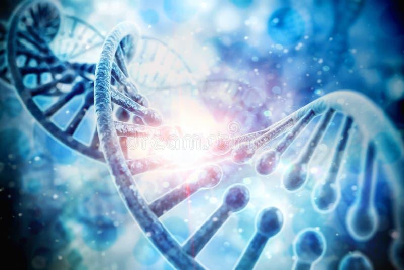 3d geef van DNA-structuur terug stock illustratie