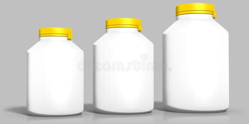 3d geef van flesje met GLB terug royalty-vrije illustratie
