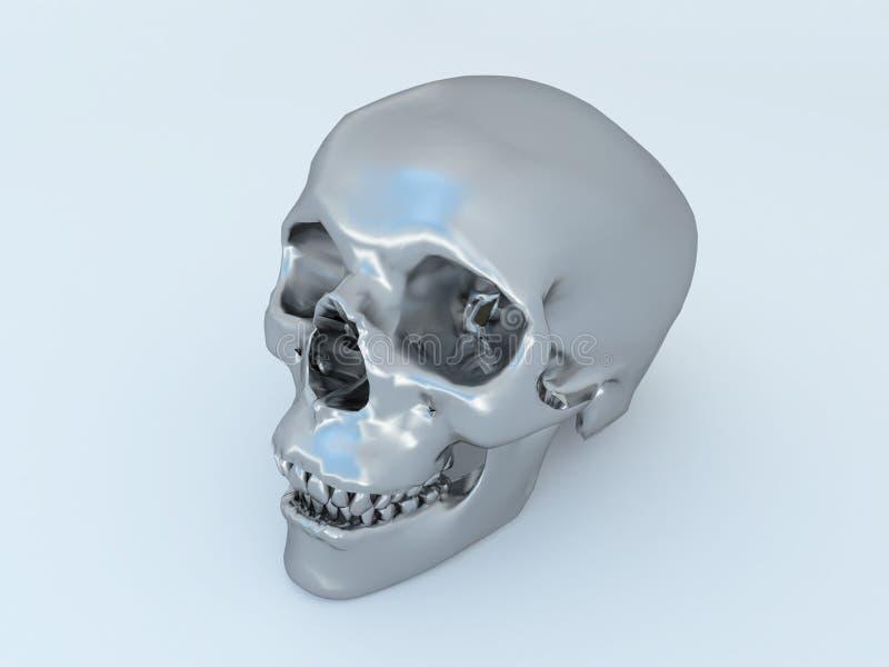 3D geef van humanoidmetaal scull terug vector illustratie
