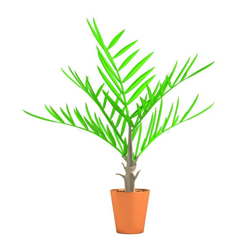 3d geef van palm terug royalty-vrije illustratie