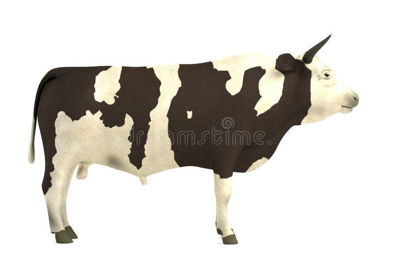 3d geef van stier terug royalty-vrije illustratie