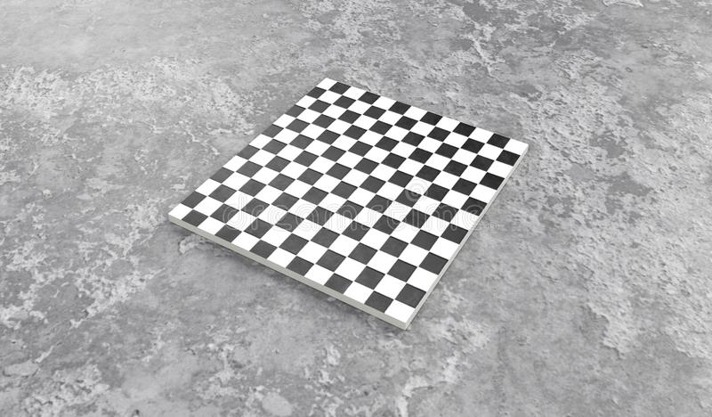 3d geef van vierkante bestratingstegels terug in grijs steenbeton royalty-vrije illustratie